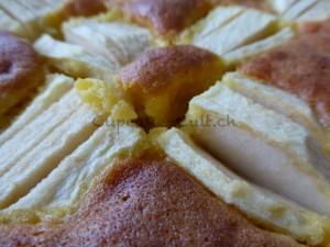 Apfelkuchen mit Marzipanguss_nah