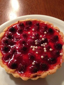 Himbeere Pudding Tartelette Tochter